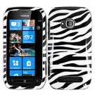 For Nokia Lumia 710 Cover Hard Zebra Case
