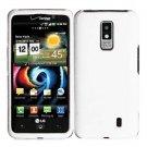 For Verizon LG Spectrum 4G Cover Hard Case White