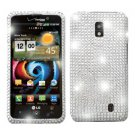 For LG Spectrum VS920 Cover Hard Case Crystal Bling Clear