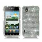 For LG Marquee LS855 Cover Hard Case Crystal Bling Clear