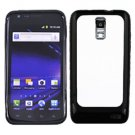 For Samsung Galaxy S II LTE Hard White / Edge Soft Black Case GT-i9210