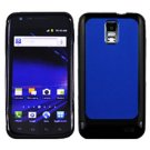 For Samsung Galaxy S II LTE Hard Blue / Edge Soft Black Case GT-i9210
