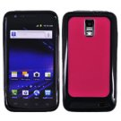 For Samsung Galaxy S II LTE Hard Pink / Edge Soft Black Case GT-i9210