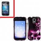 For AT&T Samsung Galaxy S II SGH-T989 Cover Hard Case L-Flower +Screen