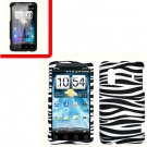 For HTC Hero S Cover Hard Phone Case Zebra + Screen Protector 2-in-1