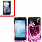 For HTC Hero S Cover Hard Phone Case Love + Screen Protector 2-in-1