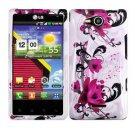 For Verizon LG Lucid 4G LTE Cover Hard Case W-Flower