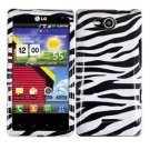 For Verizon LG Lucid 4G LTE Cover Hard Case Zebra