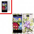 For Verizon LG Lucid 4G LTE Cover Hard Case G-Lily +Screen 2in1