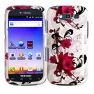 For Samsung Galaxy S Blaze 4G Cover Hard Case W-Flower +Screen 2 in1