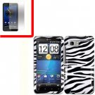 For HTC Vivid / Raider LTE 4G Cover Hard Phone Case Zebra + Screen 2-in-1