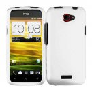 For HTC One X Cover Hard Phone Case White + Screen Protector 2-in-1