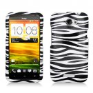 For HTC One X Car Charger + Cover Hard Case Zebra +Screen Protector