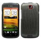 For HTC One X Cover Hard Phone Case Carbon Fiber + Screen Protector 2-in-1