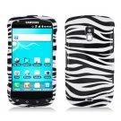 For Samsung Galaxy S Aviator Cover Hard Case Zebra +Screen Protector 2 in1