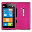 For Nokia Lumia 900 Car Charger +Hard Case H-Pink Cover +Screen 3-in-1