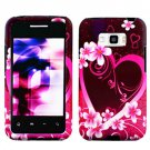 For Sprint LG Optimus Elite Cover Hard Phone Case Love +Screen