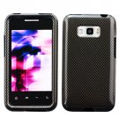For LG Optimus Elite Cover Hard Phone Case Carbon Fiber +Screen