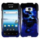 Blue Skull Phone Case For Sprint LG Optimus Elite Hard Cover