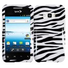 For LG Optimus Elite Car Charger + Cover Hard Case Zebra +Screen Protector