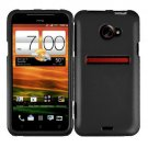 Screen Protector +Black Cover Hard Phone Case For HTC Evo 4G LTE