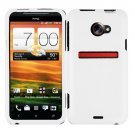 Screen Protector + Cover Hard Case White+ Car Charger For HTC Evo 4G LTE