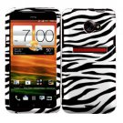 For HTC Evo 4G LTE Cover Hard Phone Case Zebra + Screen Protector 2-in-1