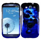For Samsung Galaxy S III Cover Hard Phone Case B-Skull + Screen Protector 2-in-1