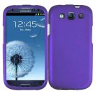 Phone Case For Samsung Galaxy S III Hard Cover Purple + Screen Protector 2-in-1