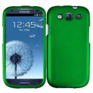 Phone Case For Samsung Galaxy S III Hard Cover Green + Screen Protector 2-in-1