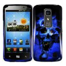 For LG Optimus LTE Cover Hard Case Blue Skull ( Nitro HD P935 / P930 )