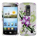 For LG Optimus LTE Cover Hard Case Green Lily ( Nitro HD P935 / P930 )
