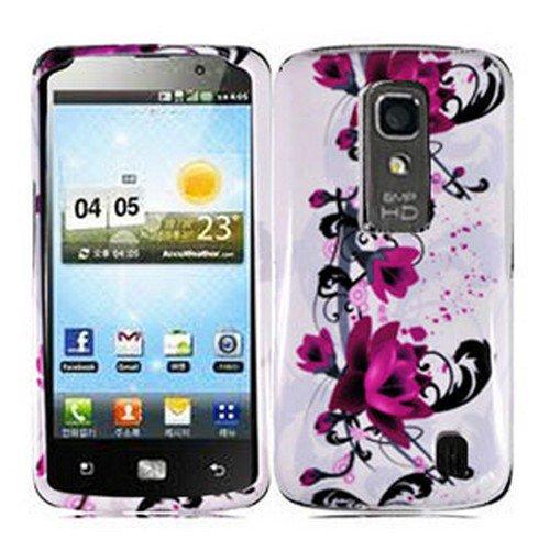 Phone Case For LG Optimus LTE Hard Cover W-Flower ( Nitro HD P935 / P930 )