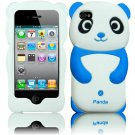 Hard Case For Apple iphone 4S 4 Silicon Cover Blue Panda