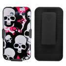 Phone Case For Samsung Galaxy S III Hard Cover P-Skull +Holster Belt Clip +Stand