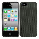 For Apple iPhone 5 / iphone5 Cover Carbon Fiber Hard Case +Screen Protector