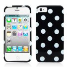For Apple iPhone 5 / iphone5 Cover Polk Dot Hard Case +Screen Protector