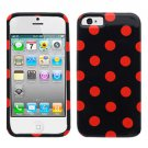 For Apple iPhone 5 / iphone5 Cover Polk Red Dot Hard Case +Screen Protector