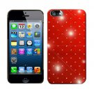 For Apple iPhone 5 / iphone5 Hard Case Brilliant Crystal Red Phone Cover