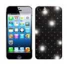 For Apple iPhone 5 / iphone5 Hard Case Brilliant Crystal Black Phone Cover