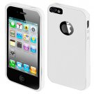 For Apple Iphone 5 / Iphone5 Case Leather texture White/White Cover