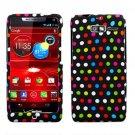 For Motorola Razr i Phone Case Colors Dot Hard Cover +Screen Protector XT890