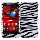 For Motorola Razr i Phone Case Zebra Hard Cover +Screen Protector XT890