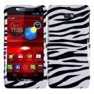 For Motorola Razr M Phone Case Zebra Hard Cover +Screen Protector XT907
