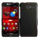 For Motorola Razr M Phone Case Carbon Fiber Hard Cover +Screen Protector XT907