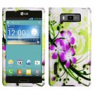 For LG Optimus L7 Phone Case Green Lily Hard Cover ( P700 / P705G )