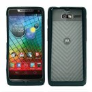 For Motorola Electrify M Phone Case Soft Edge Black/Frosted Clear Hard Cover +Screen Protector