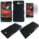 Phone Case For Motorola Razr i Black-Line Hard Cover +Screen Protector XT890