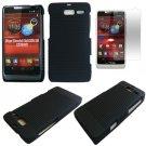 Phone Case For Motorola Razr i Black-Line Hard Cover +Screen Protector XT890
