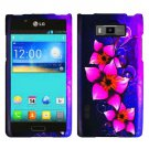 Phone case For LG Spendor US730 / Venice 730 Case Pink Flower Cover +Screen Protector